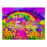Rainbow Of Flowers Poster