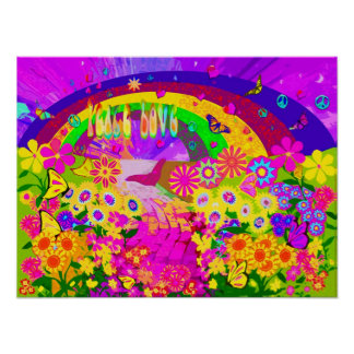 Rainbow Of Flowers Poster