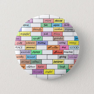 Rainbow of Inspirational Graffiti 2 Inch Round Button
