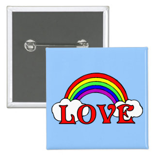 Rainbow Of Love 2 Inch Square Button