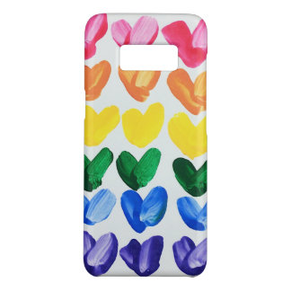 Rainbow of Love - Fun Colorful Hand Painted Hearts Case-Mate Samsung Galaxy S8 Case