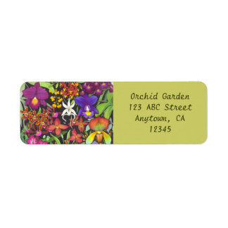 Rainbow of Orchids Avery Label Return Address Label