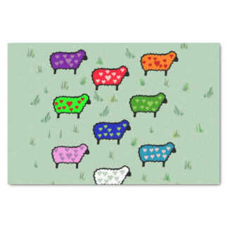 Rainbow Of Sheep Tissue Paper