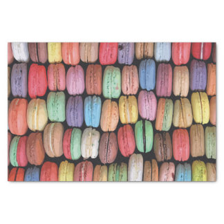 Rainbow of Stacked French Macaron Cookies Tissue Paper