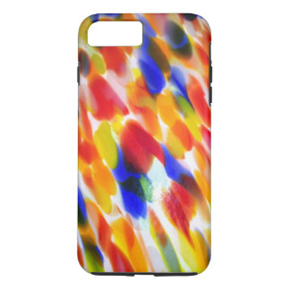 Rainbow of Swirling Polka Dots Abstract iPhone 7 Plus Case