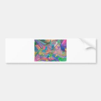 Rainbow of Swirls Bumper Sticker