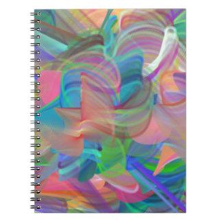 Rainbow of Swirls Spiral Notebook