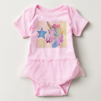 Rainbow of Unicorn Baby Bodysuit