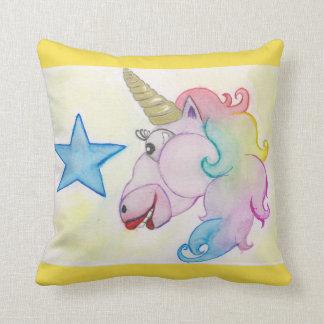 Rainbow of Unicorn Throw Pillow