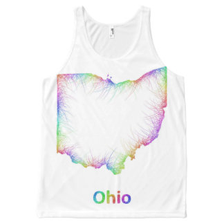 Rainbow Ohio map