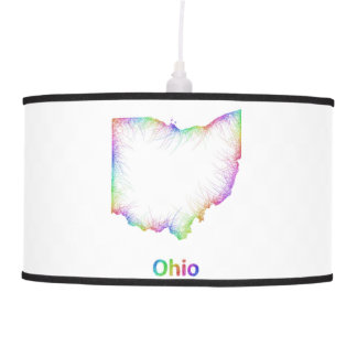 Rainbow Ohio map Ceiling Lamps