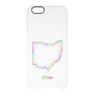 Rainbow Ohio map Clear iPhone 6/6S Case