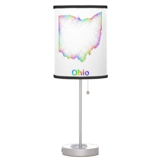 Rainbow Ohio map Desk Lamps