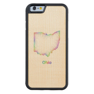 Rainbow Ohio map Maple iPhone 6 Bumper Case