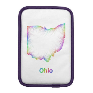Rainbow Ohio map Sleeve For iPad Mini
