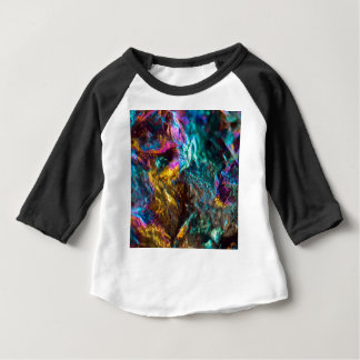 Rainbow Oil Slick Crystal Rock Baby T-Shirt