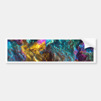 Rainbow Oil Slick Crystal Rock Bumper Sticker