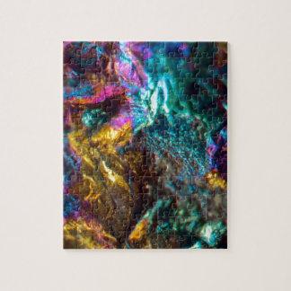 Rainbow Oil Slick Crystal Rock Jigsaw Puzzle