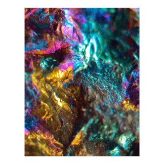 Rainbow Oil Slick Crystal Rock Letterhead