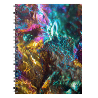 Rainbow Oil Slick Crystal Rock Notebook