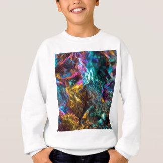 Rainbow Oil Slick Crystal Rock Sweatshirt