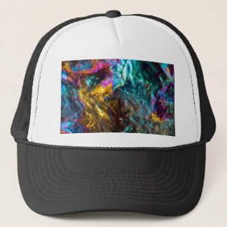 Rainbow Oil Slick Crystal Rock Trucker Hat
