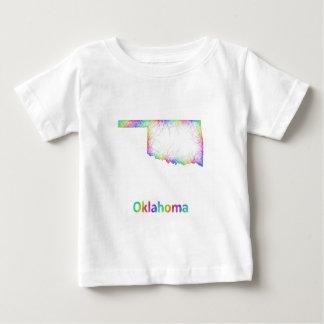 Rainbow Oklahoma map Baby T-Shirt