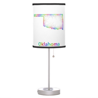 Rainbow Oklahoma map Desk Lamp