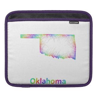 Rainbow Oklahoma map iPad Sleeves