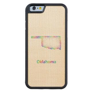Rainbow Oklahoma map Maple iPhone 6 Bumper Case