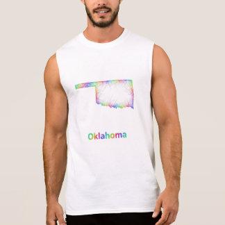 Rainbow Oklahoma map Sleeveless Shirt