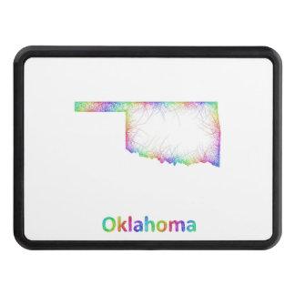 Rainbow Oklahoma map Trailer Hitch Cover