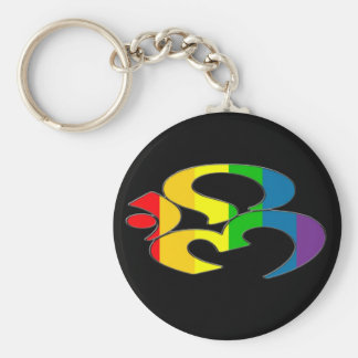 Rainbow OM Keychain