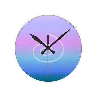 Rainbow Ombre Swirl Clock