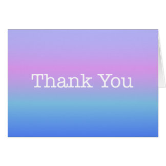 Rainbow Ombre Thank You American Typewriter Card