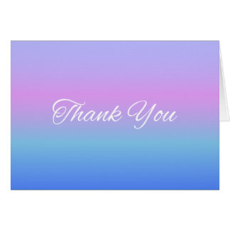 Rainbow Ombre Thank You Note Card