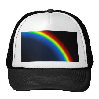 Rainbow on black trucker hat