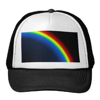 Rainbow on black trucker hat