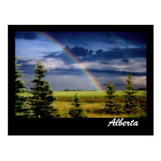Rainbow On The Prairies Postcard