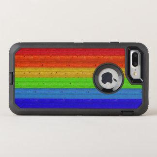 Rainbow on Wood OtterBox Defender iPhone 8 Plus/7 Plus Case