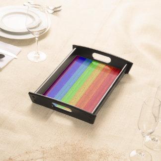Rainbow on Wood Serving Tray