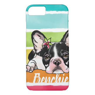 Rainbow Orchid Frenchie (Add Your Pet's Name) iPhone 8/7 Case