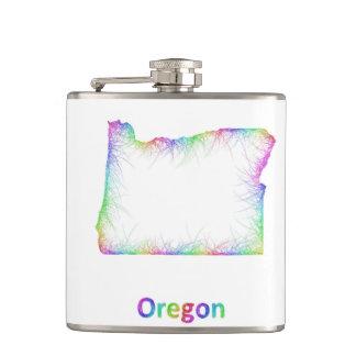 Rainbow Oregon map Flask