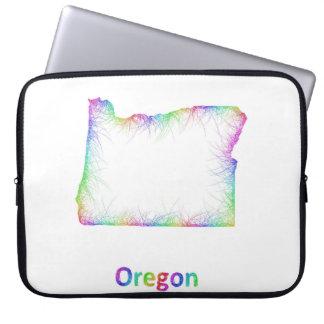 Rainbow Oregon map Laptop Sleeve