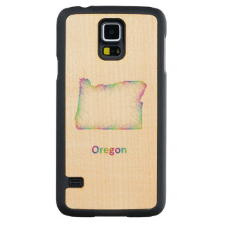 Rainbow Oregon map Maple Galaxy S5 Case