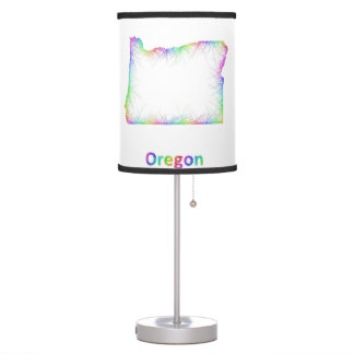 Rainbow Oregon map Table Lamp