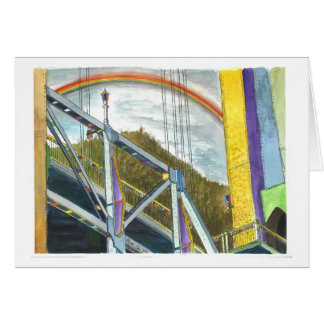 Rainbow over a Bridge Greeting Card