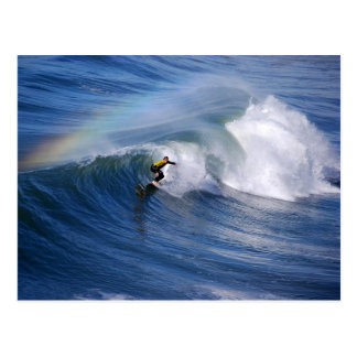 Rainbow Over a California Surfer Postcard