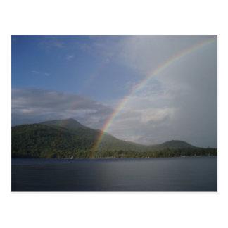 Rainbow over Blue Mountain Lake Postcard