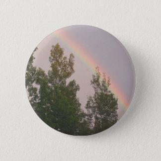 Rainbow Over Cedar  Trees 2 Inch Round Button